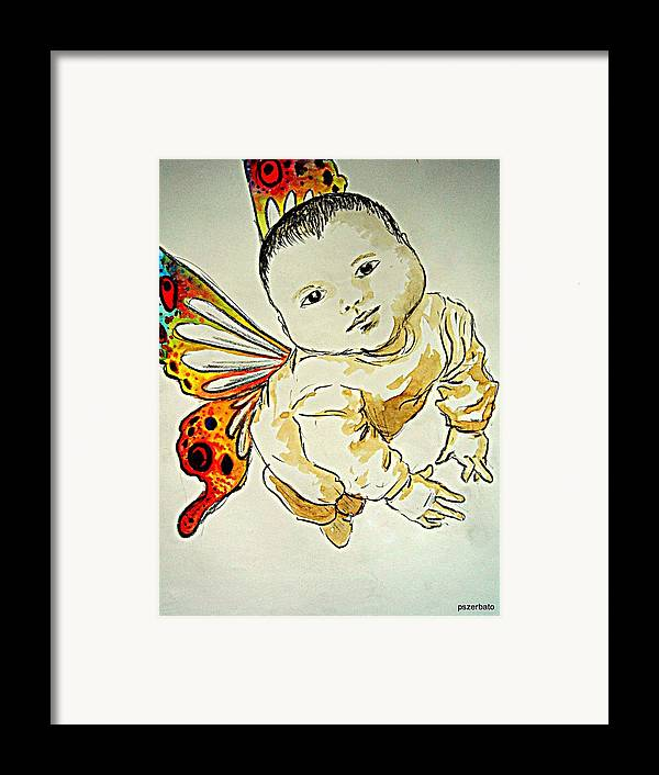 Peaceful State Framed Print featuring the digital art Innocence by Paulo Zerbato