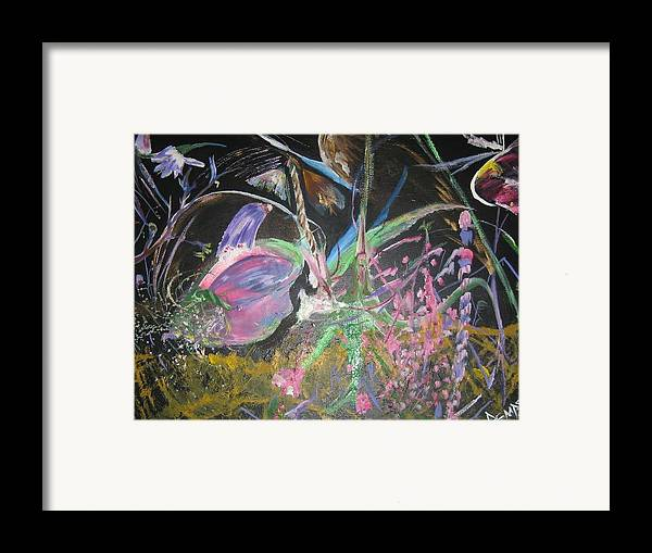 Abstract Framed Print featuring the painting Innocense by Impressionist FineArtist Tucker Demps Collection