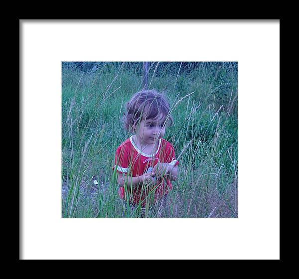 Landscape Framed Print featuring the photograph Innocense Of A Child by Sharon Stacey