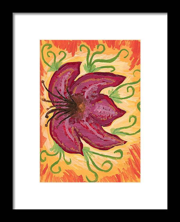Flower Framed Print featuring the painting Innocent by Laura Lillo