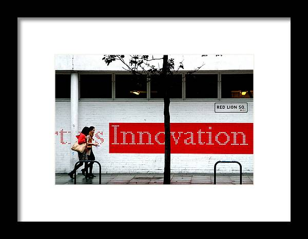 Jez C Self Framed Print featuring the photograph Innovative Red by Jez C Self