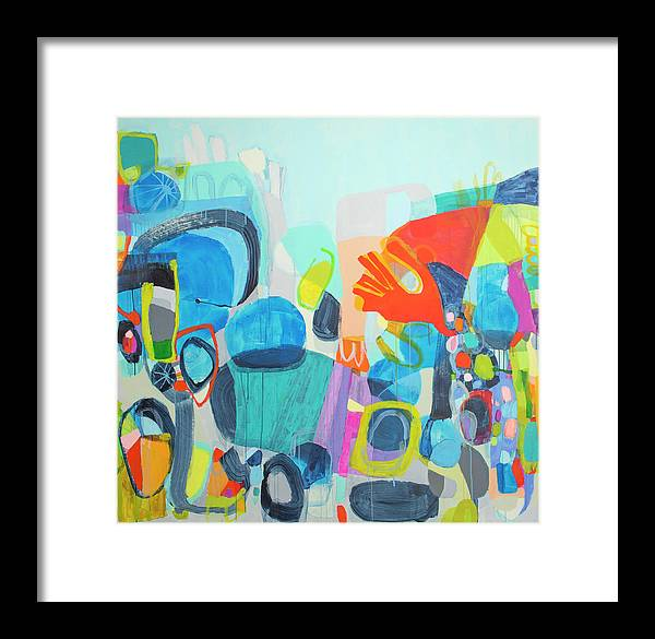 Abstract Framed Print featuring the painting Insatiable by Claire Desjardins