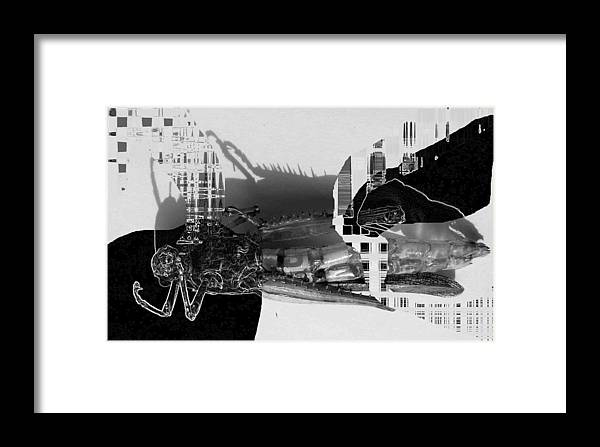Insects Framed Print featuring the photograph Insect In Abstract Inviroment by Evguenia Men