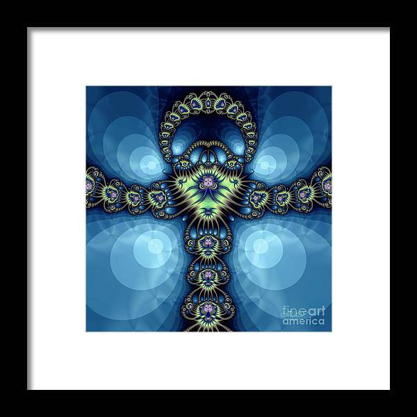 Fractal Framed Print featuring the digital art Insect Queen by Jutta Maria Pusl