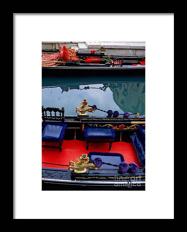 Venice Framed Print featuring the photograph Inside Gondola In Venice by Michael Henderson