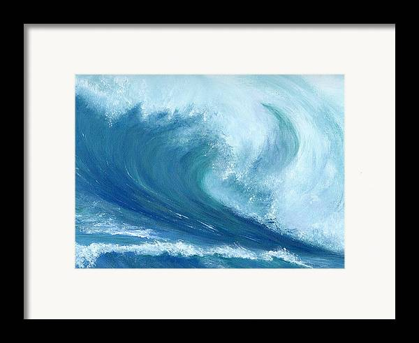Wave Framed Print featuring the painting Inside Out by Laura Johnson