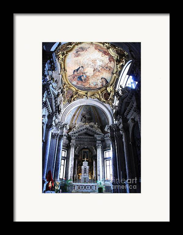 Venice Framed Print featuring the photograph Inside The Church Santa Maria Della Salute In Venice by Michael Henderson