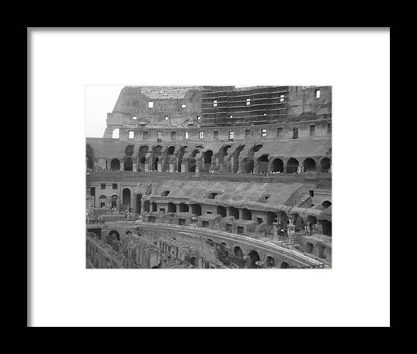 Italy Framed Print featuring the photograph Inside The Colosseum by Shelby Eagleburger