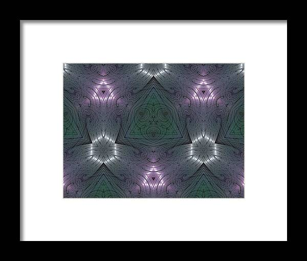 Kaleidoscope Framed Print featuring the digital art Inside The Crystal by Ricky Kendall