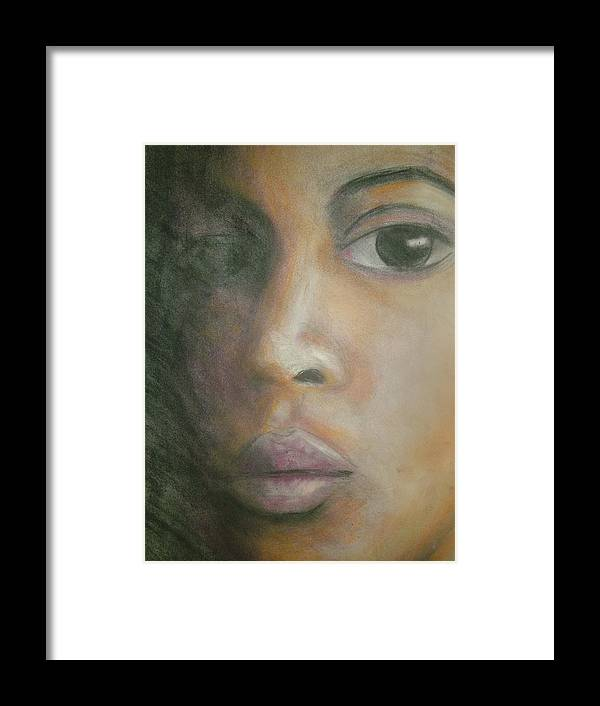Framed Print featuring the drawing Inside The Soul by Jan Gilmore