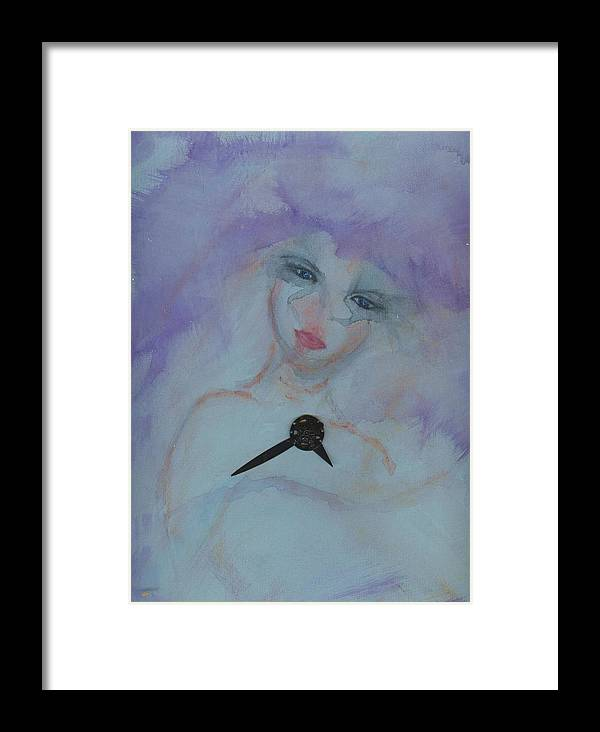 Insomnia Framed Print featuring the painting Insomnia by Cathy Minerva
