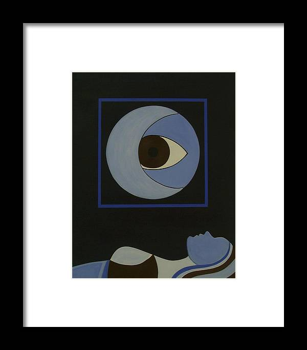 Figurative Framed Print featuring the painting Insomniac by Sandy Bostelman