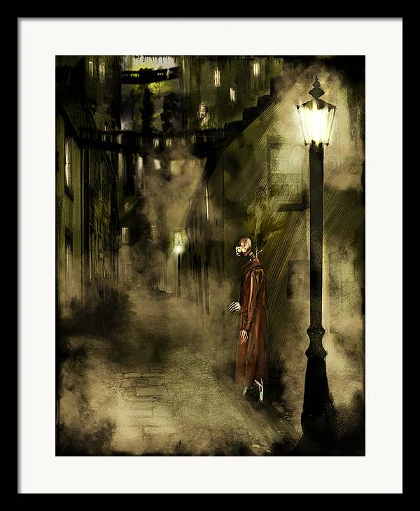 Science Fiction Framed Print featuring the painting Inspector Hook by Mandem
