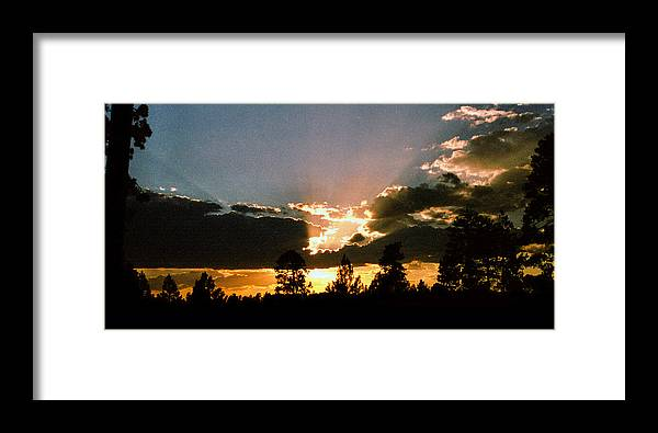 Arizona Framed Print featuring the photograph Inspiration Sunset by Randy Oberg