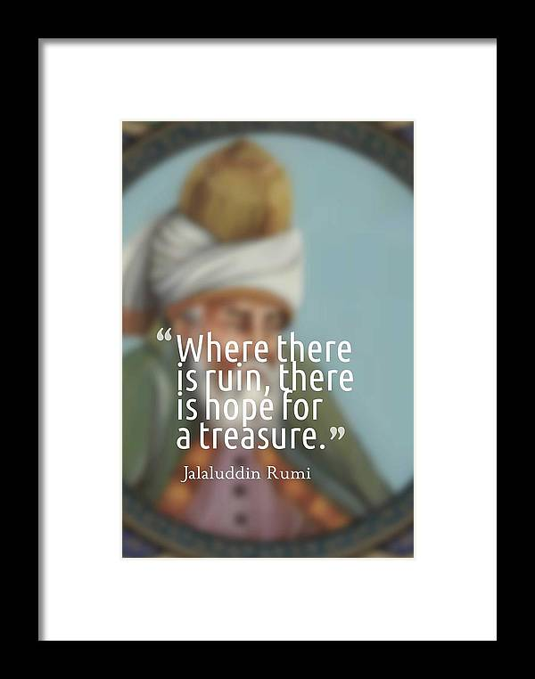 Motivational Framed Print featuring the painting Inspirational Quotes - Motivational - 163 by Celestial Images