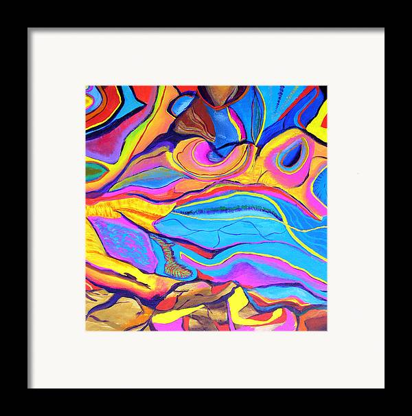 Abstract Framed Print featuring the painting Inspire One by Stan Hamilton