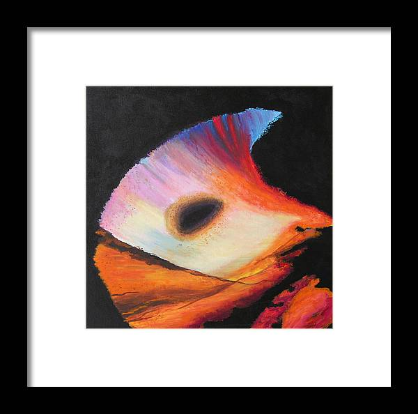Abstract Framed Print featuring the painting Inspire Two by Stan Hamilton