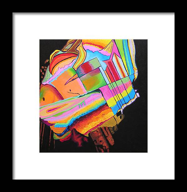 Abstract Framed Print featuring the painting Inspire V by Stan Hamilton