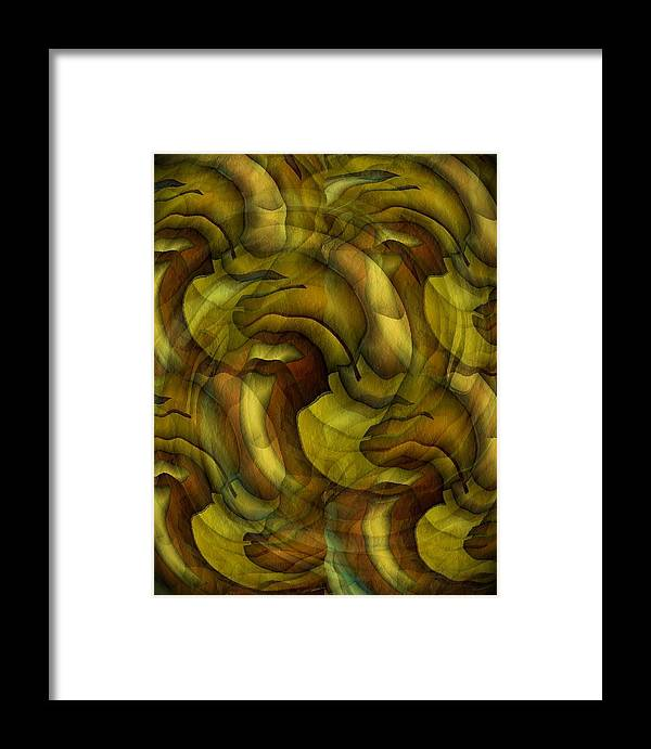 Abstract Framed Print featuring the digital art Inspired By Dali by Terry Mulligan