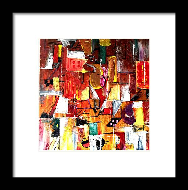 Painting Framed Print featuring the painting Inspired By Picasso by Kheri Chawla