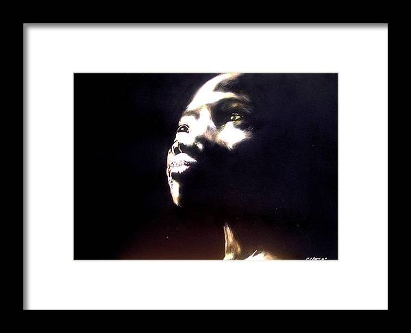 Framed Print featuring the mixed media Inspired by Chester Elmore