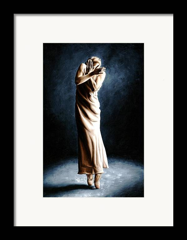 Dancer Framed Print featuring the painting Intense Ballerina by Richard Young