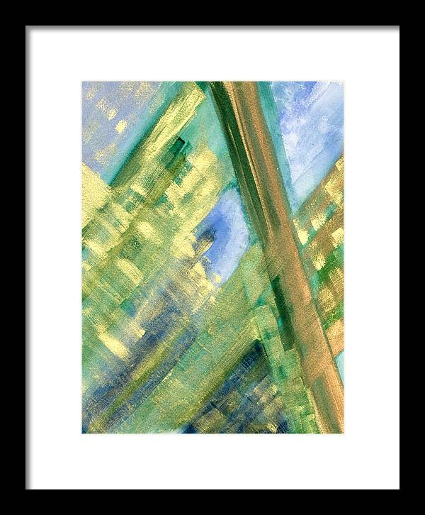 Abstract Framed Print featuring the painting Intention by Yolanda Lange