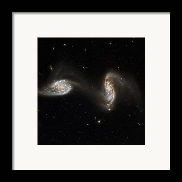 Ngc 5257 Framed Print featuring the photograph Interacting Galaxies Ngc 5257 And 5258 by Stsciaurahubble Collaborationa. Evans (university Of Virginia, Charlottesville;nrao;stony Brook University)nasa