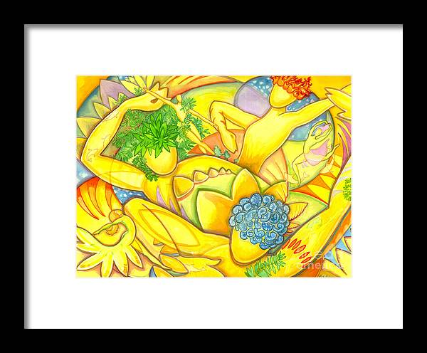 Figure Framed Print featuring the painting Interconnected Elements by Mark Stankiewicz