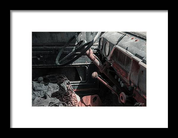 Old Framed Print featuring the photograph Interior Truck by Zach Johanson