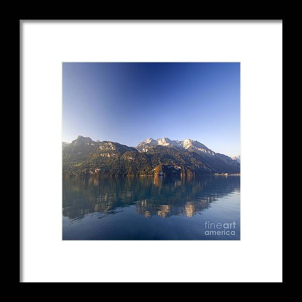 Framed Print featuring the photograph Interlaken by Angel Ciesniarska