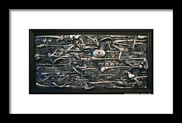 Sculpture Framed Print featuring the sculpture Internal Combustion 2 by Jud Turner