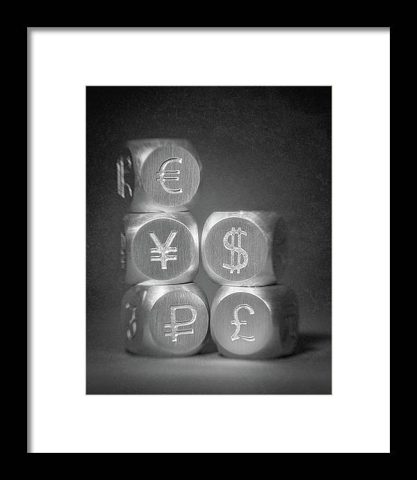 Aluminum Framed Print featuring the photograph International Currency Symbols by Tom Mc Nemar