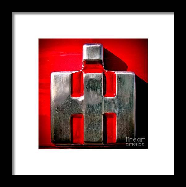 International Harvester Logo >> International Harvester Logo Nameplate Framed Print By Olivier Le