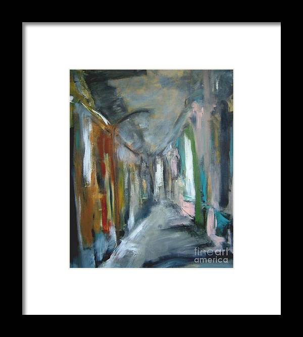 Home Framed Print featuring the painting Interpretation Of A Beautiful Day by Rome Matikonyte