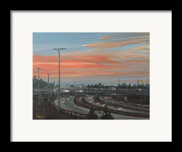 Skyscape Framed Print featuring the painting Interscape 85 by Pete Maier