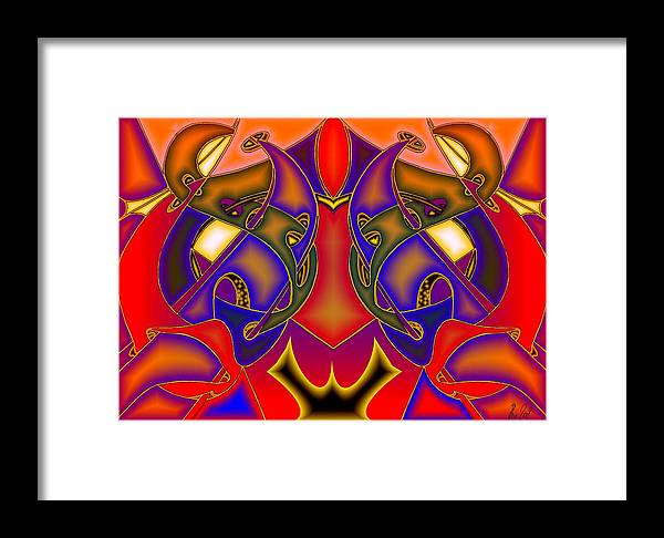 Life Framed Print featuring the digital art Intertwined Lifestreets by Helmut Rottler