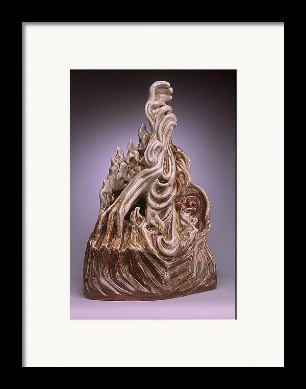 Form Sculpture Framed Print featuring the sculpture Intervention by Stephen Hawks