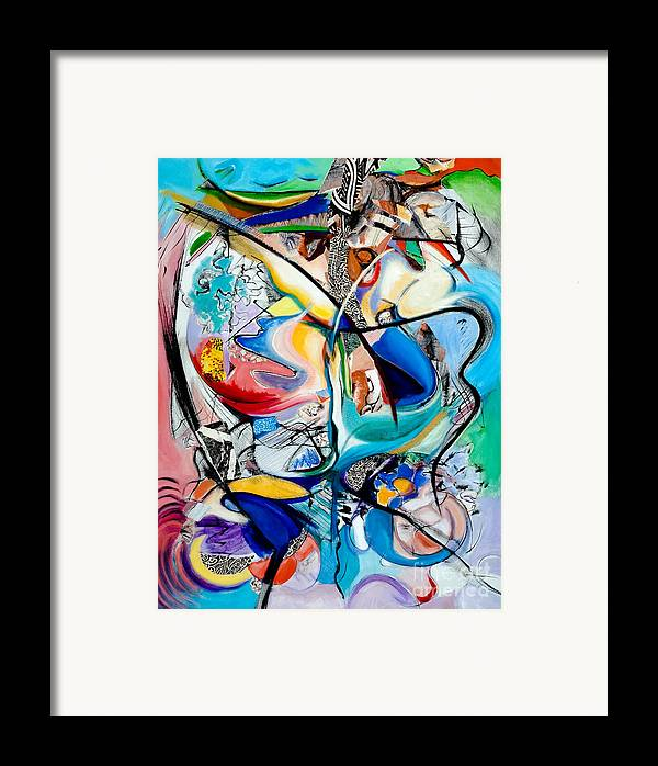 Abstract Framed Print featuring the painting Intimate Glimpses - Journey Of Life by Kerryn Madsen-Pietsch