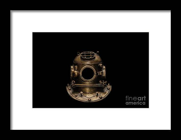 Diving Helmet Framed Print featuring the photograph Into The Deep by Dale Powell