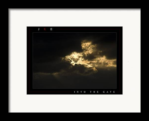 Sky Framed Print featuring the photograph Into The Gate by Jonathan Ellis Keys