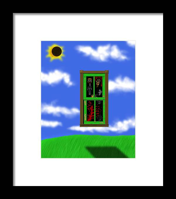 Surrealism Framed Print featuring the digital art Into The Green Window by Robert Morin