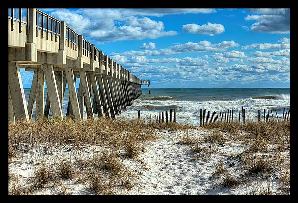 Into The Gulf at Navarre Beach by JC Findley