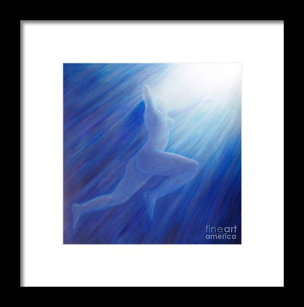 Spiritual Framed Print featuring the painting Into The Light by Brian Commerford