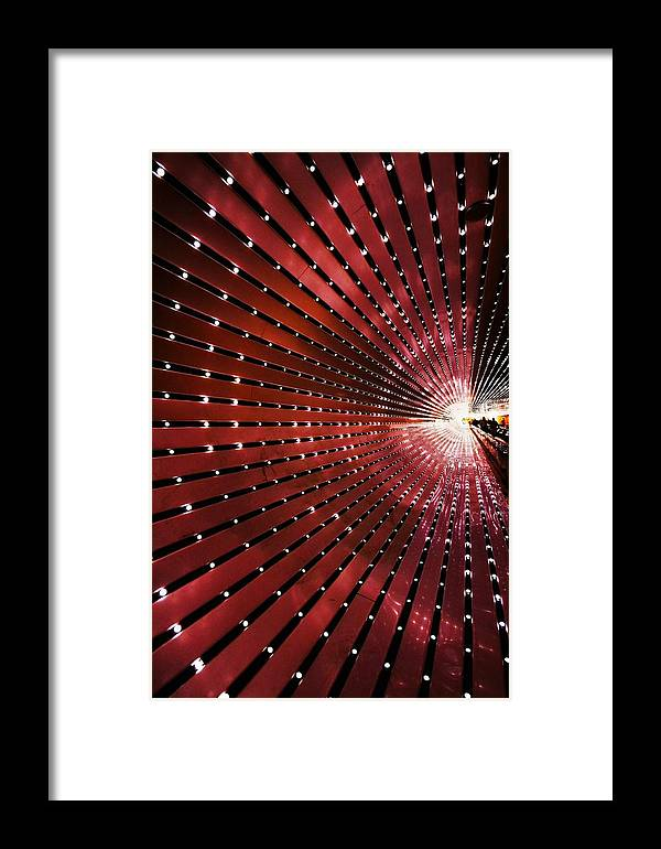 Tunnel Framed Print featuring the photograph Into The Light by Mitch Cat