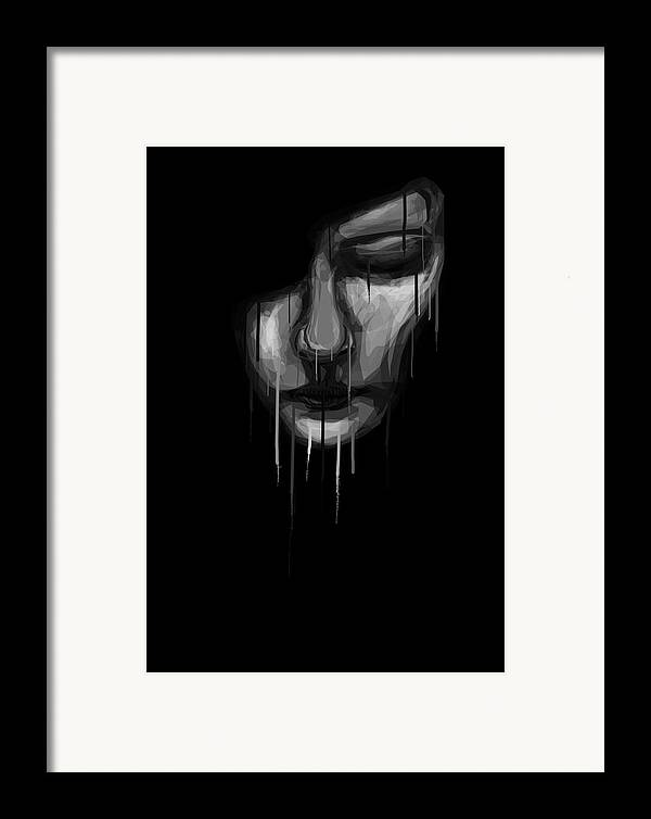 Face Framed Print featuring the digital art Into The Melting Pot by Aiden Galvin