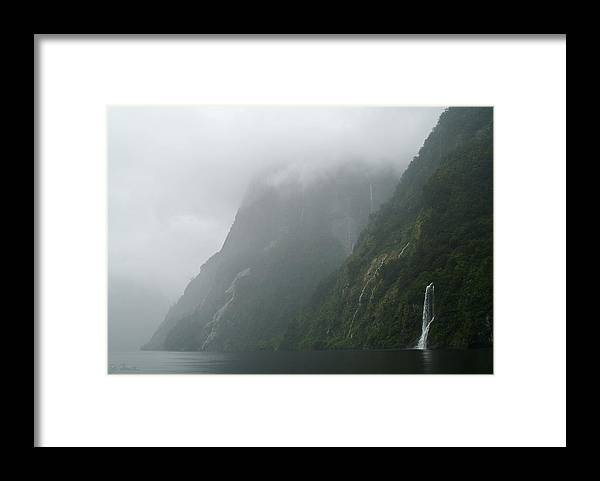 New Zealand Framed Print featuring the photograph Into The Mist by Joe Bonita