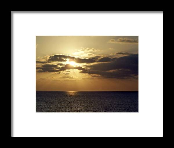 Ocean Framed Print featuring the photograph Into The Mystic by Brian Commerford
