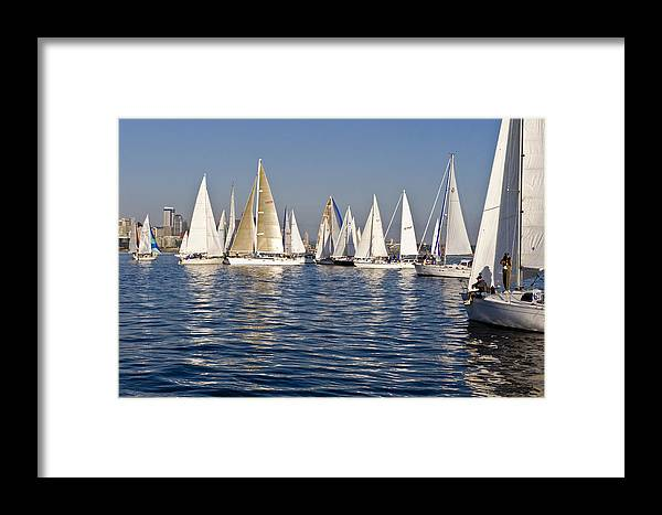 Seattle Framed Print featuring the photograph Into The Race by Tom Dowd