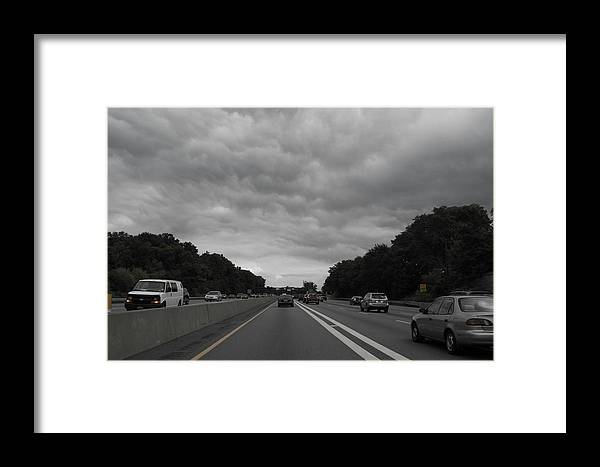 Hamptons Traffic Framed Print featuring the photograph Into The Storm by Joan D Squared Photography
